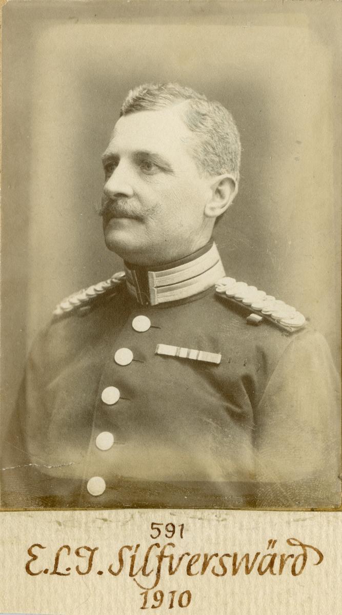 Porträtt av Ernst Lars Isak Silfverswärd, major vid Göta livgarde I 2.