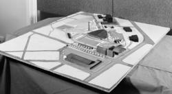 Utstillingsplassen, modell, Hamarhallen, bygninger langs Van
