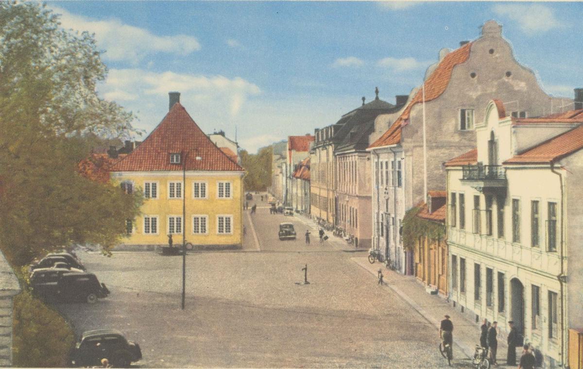 Lilla Torget i Kalmar. Domprostgården rakt fram och Dahmska huset till höger.
