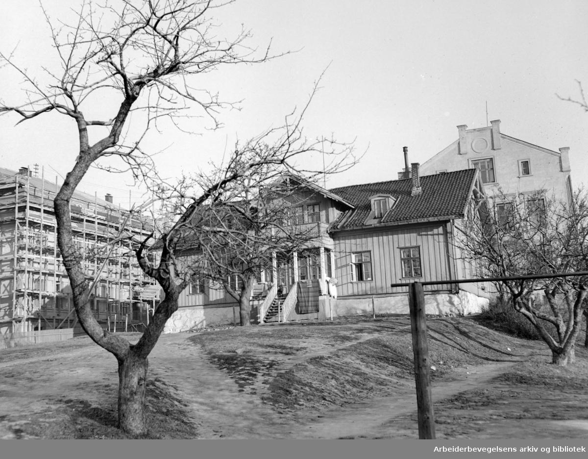 Torshov åndssvakeskole. Den gamle. Februar 1949