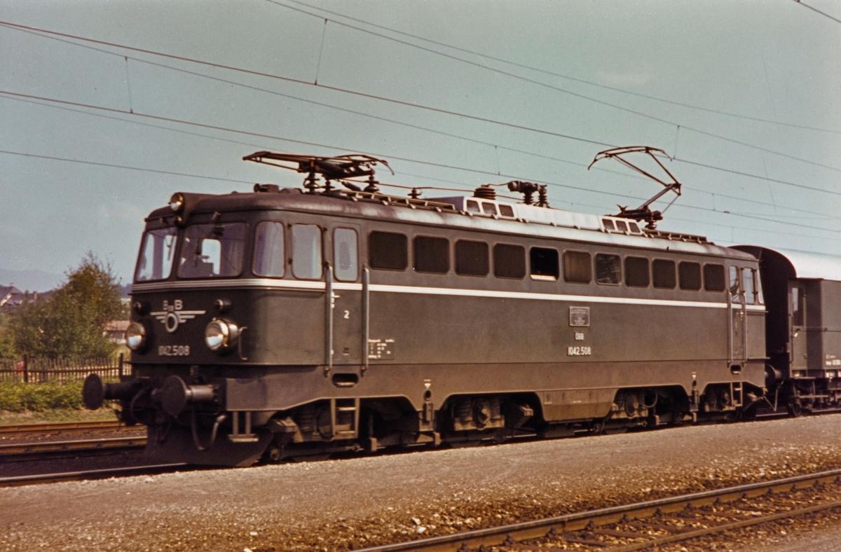 ÖBB elektrisk lokomotiv 1042.508Treibah - Althafen