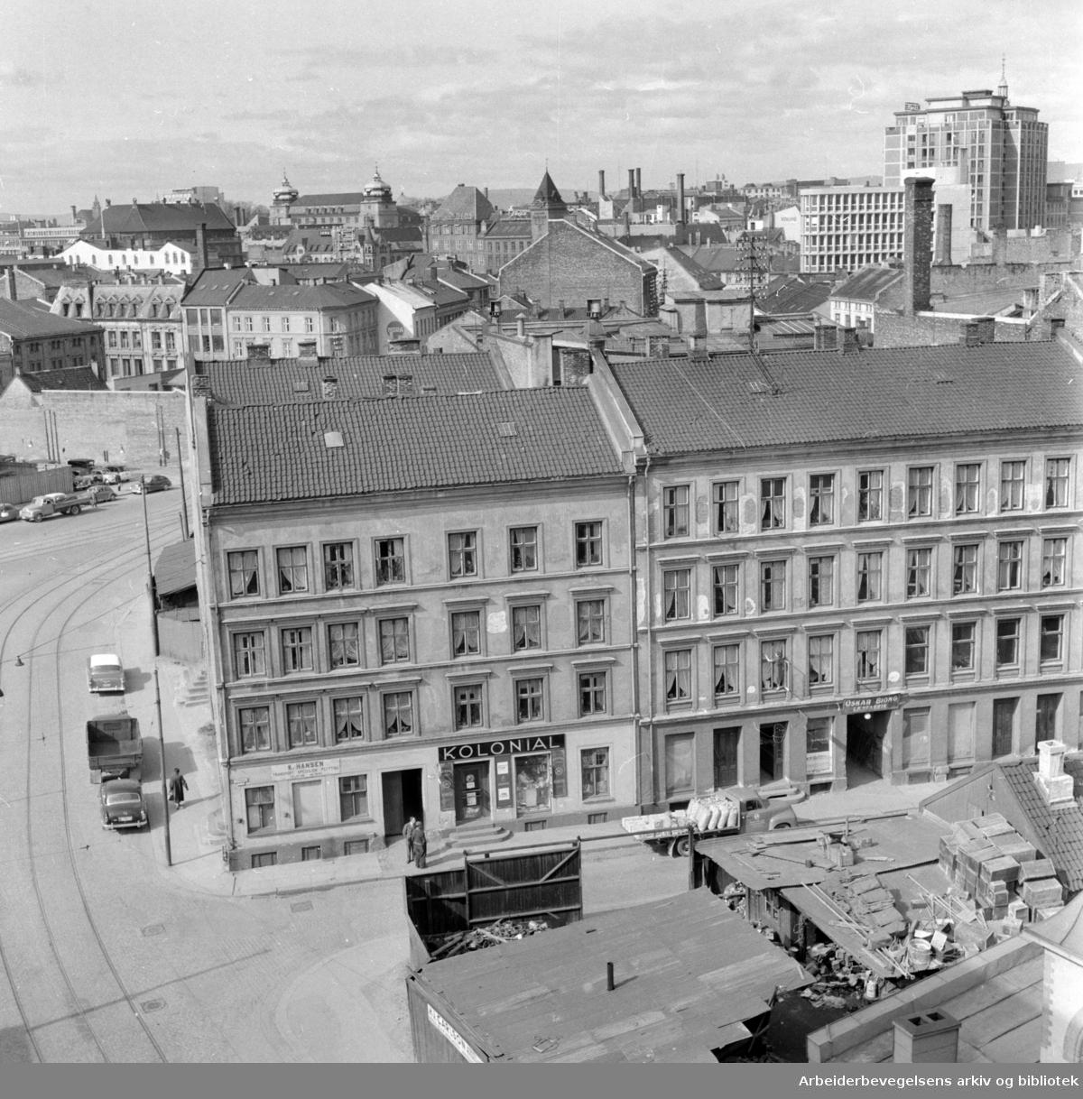 Vaterland. Saneringsområdet. Mai 1959