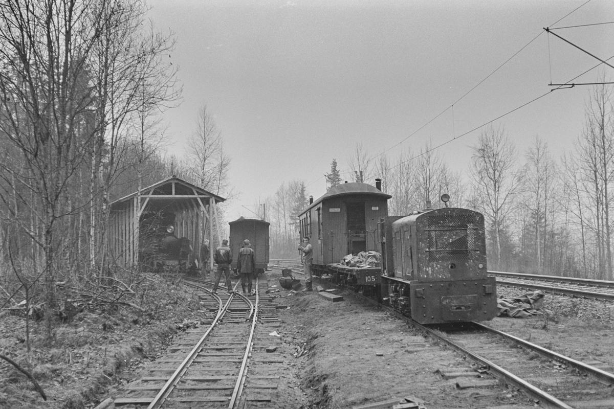 Bingsfoss stasjon på museumsbanen Urskog-Hølandsbanen på Sørumsand.