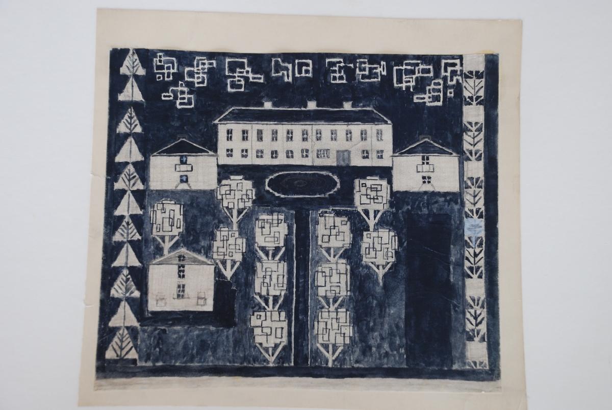 Förslag till finnvävar komponerade av Ann Mari Gunnarsson.