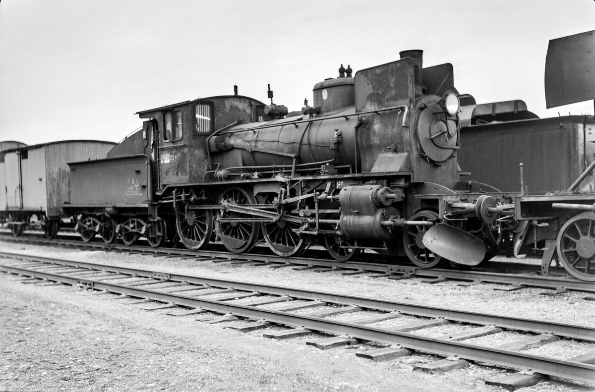 Damplokomotiv type 27a nr. 234 på Marienborg.