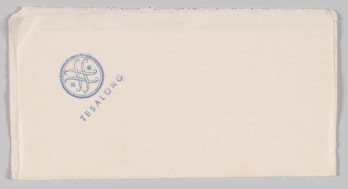 Logo for Steen & Strøm og reklametekst for stormagasinets Tesalong.  Steen & Strøm as er et skandinavisk kjøpesenterselskap med 18 kjøpesentre i Norge, Danmark og Sverige. Det opprinnelige Steen & Strøm-selskapet ble dannet da Emil Steen og Samuel Strøm slo sammen sine butikker i 1856. Selskapet åpnet i 1874 Kristianias første stormagasin i et stort nybygg i fire etasjer på Kongens gate 23, tegnet av arkitekt Paul Due, men dette brant ned i 1929.[1] Etter brannen ble dagens stormagasin i fem etasjer og tre tilbaketrukne etasjer oppført på samme tomt etter tegninger av arkitekt Ole Sverre. Det sto ferdig i 1930.  Reklame for samme firma på MIA.00007-004-0174; MIA.00007-004-0175; MIA.00007-004-0177.