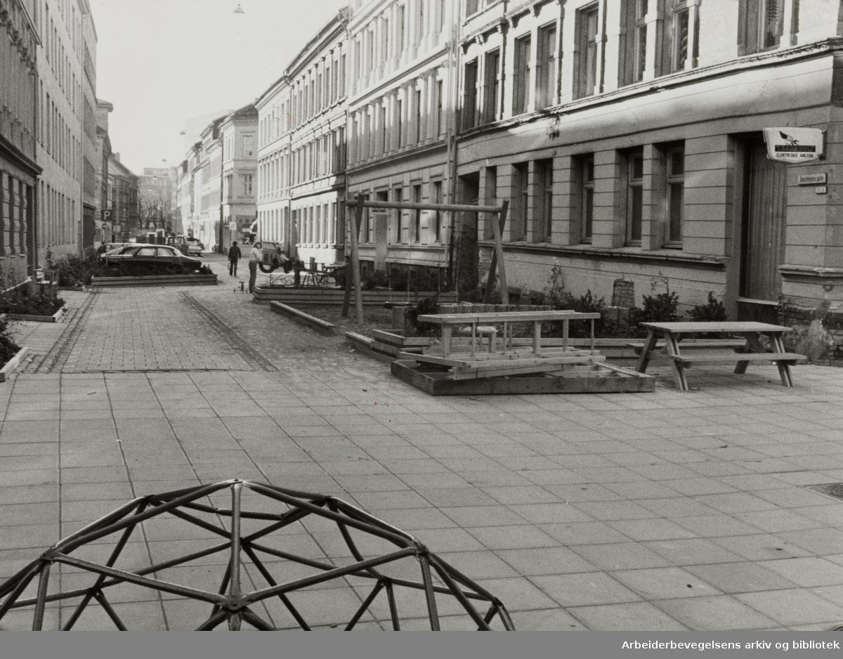 Deichmans gate har gjennomgått store forandringer. November 1980