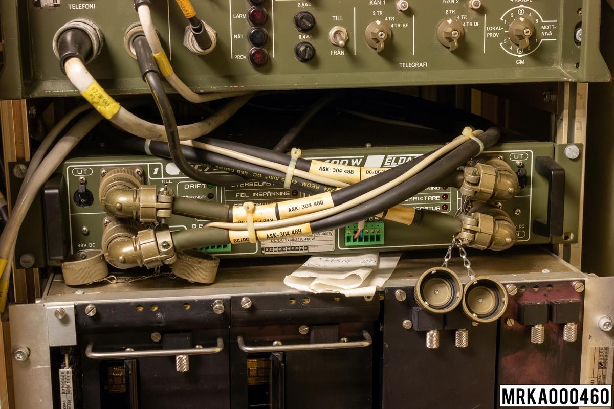 Likriktare.  Ursprungsbenämning: ELDACO DC/DC 2x48/24V, 400W Ursprungsbeteckning: DC/DC 2x48/24V, 400W