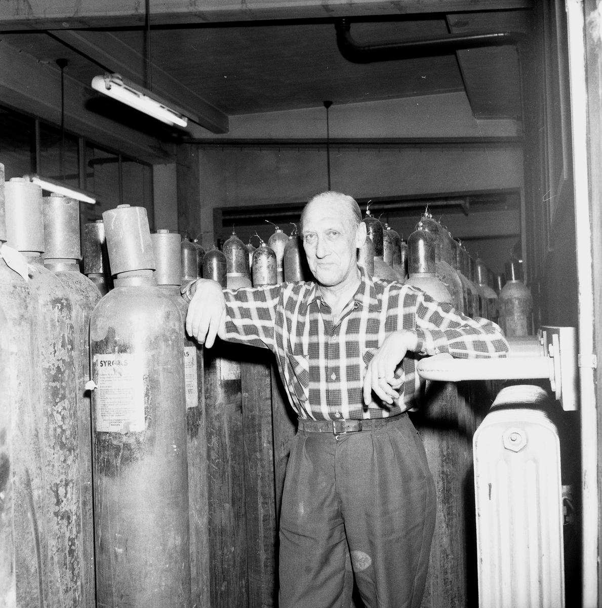 50 år på syrgasfabrik. 28 oktober 1958.