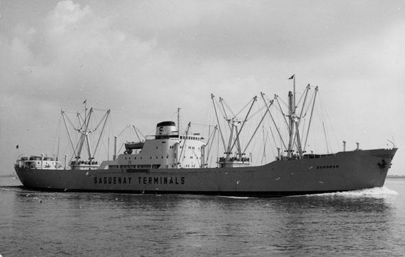 Motivet viser M/S SUNGRAN (bygget 1955) til sjøs.