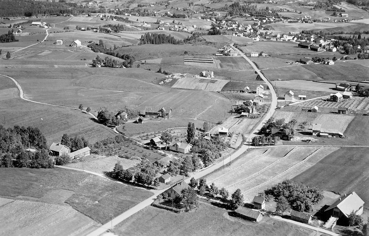 Flyfoto av Langkåshaugen