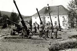 Luftvernkanon 7,5 cm. M / 1936  4. Her var det mye stjerner