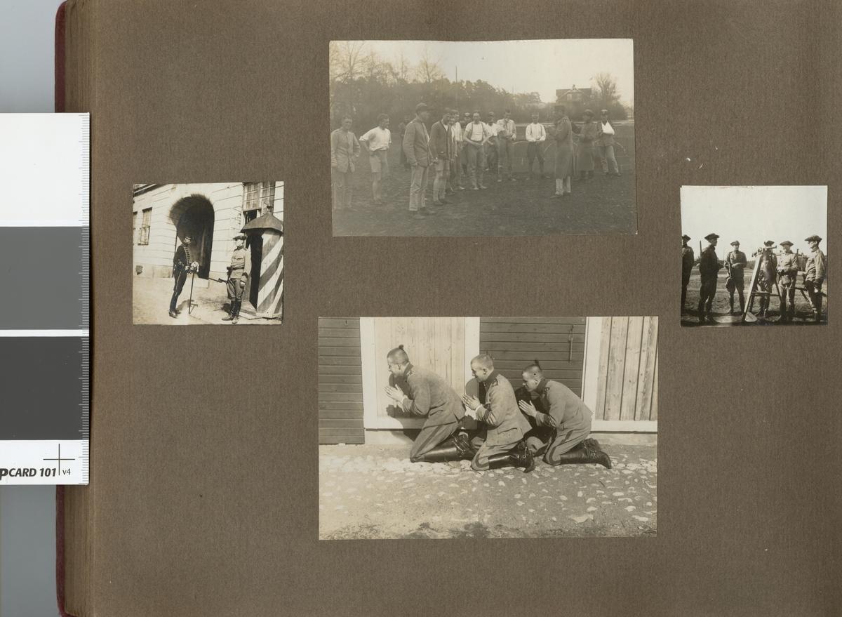 Soldater på övningsplats.