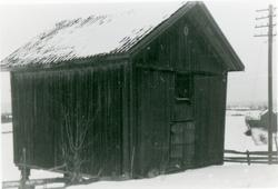 Telthuset, før flytting til Hadeland Folkemuseum