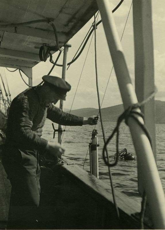 Fisker i arbeid