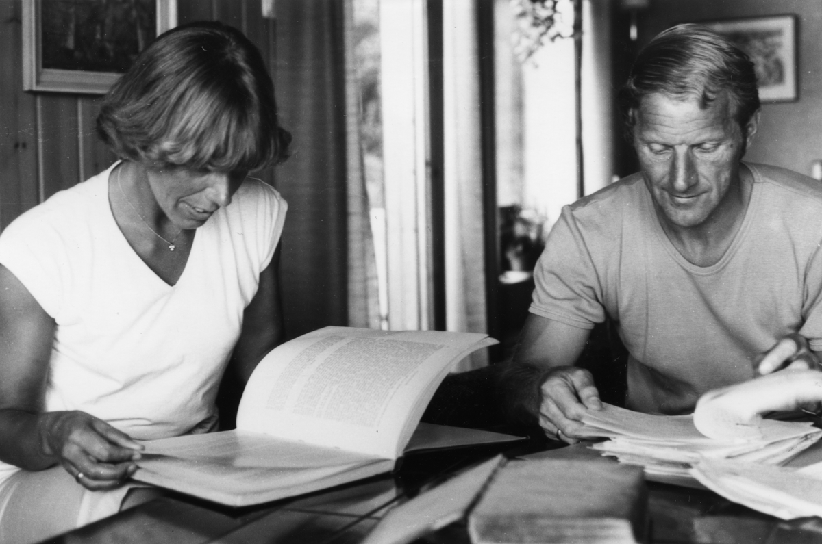 Varaordfører i Målselv kommune - Lars Nymo (født 1938) og kone Elsa (født Fossland 1943)