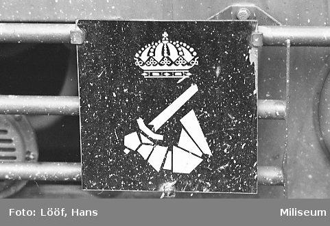 Militärmästerskap Motor. Fordonsskylt, Pansartrupperna.