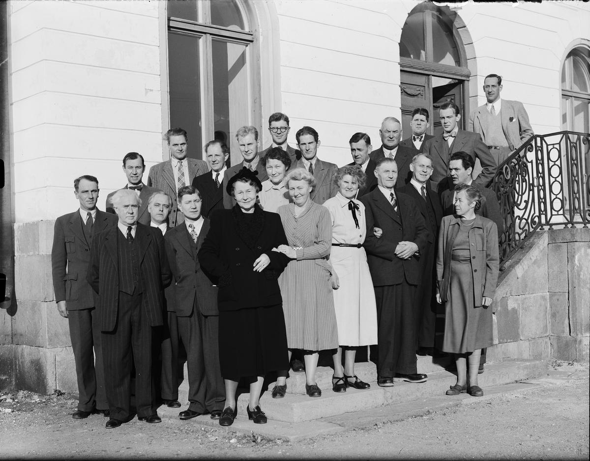 Grupporträtt - högerpartiets medborgarskola, Gimo herrgård, Uppland