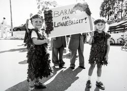 Barn, karneval. Barnekarneval. Bilde fra barnekarnevalet på