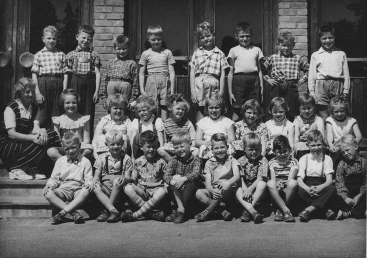 Ski skole - 1. klasse 1957.
