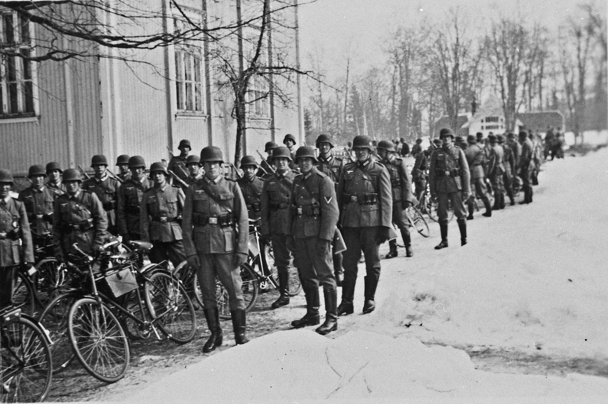 Samling av tyske soldater.
