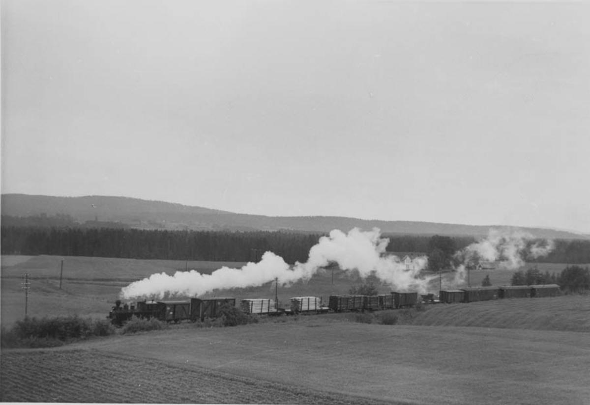 Tog til Sørumsand nær Kvevli stasjon.