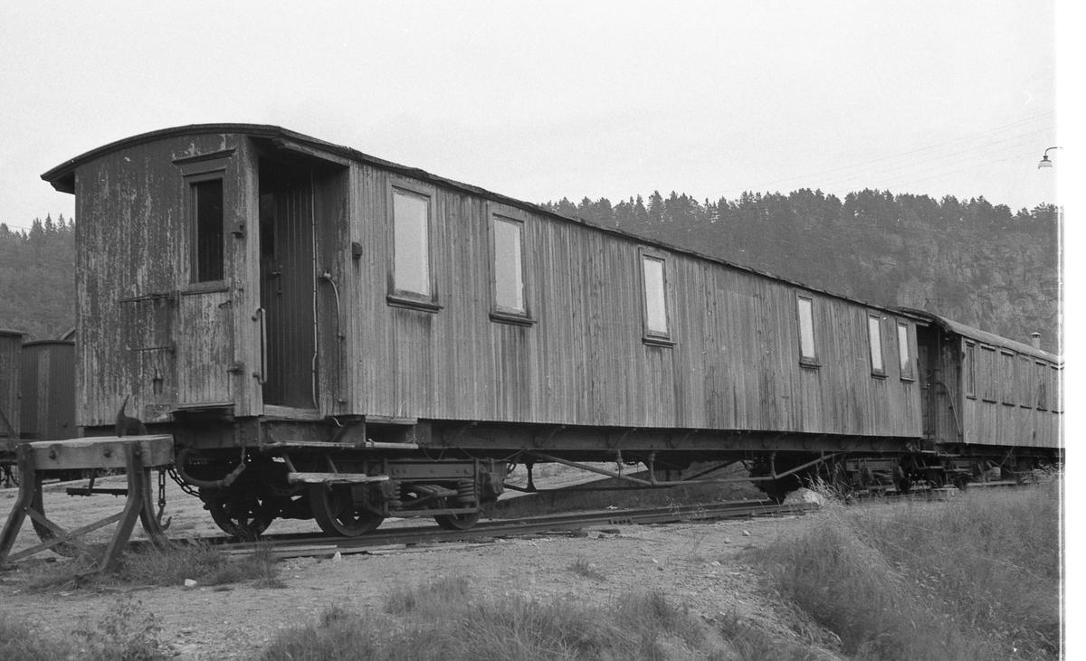 """""""Karlsvogna"""", vogn Co 158. Ble benyttet som snekkerveksted på Grovane."""