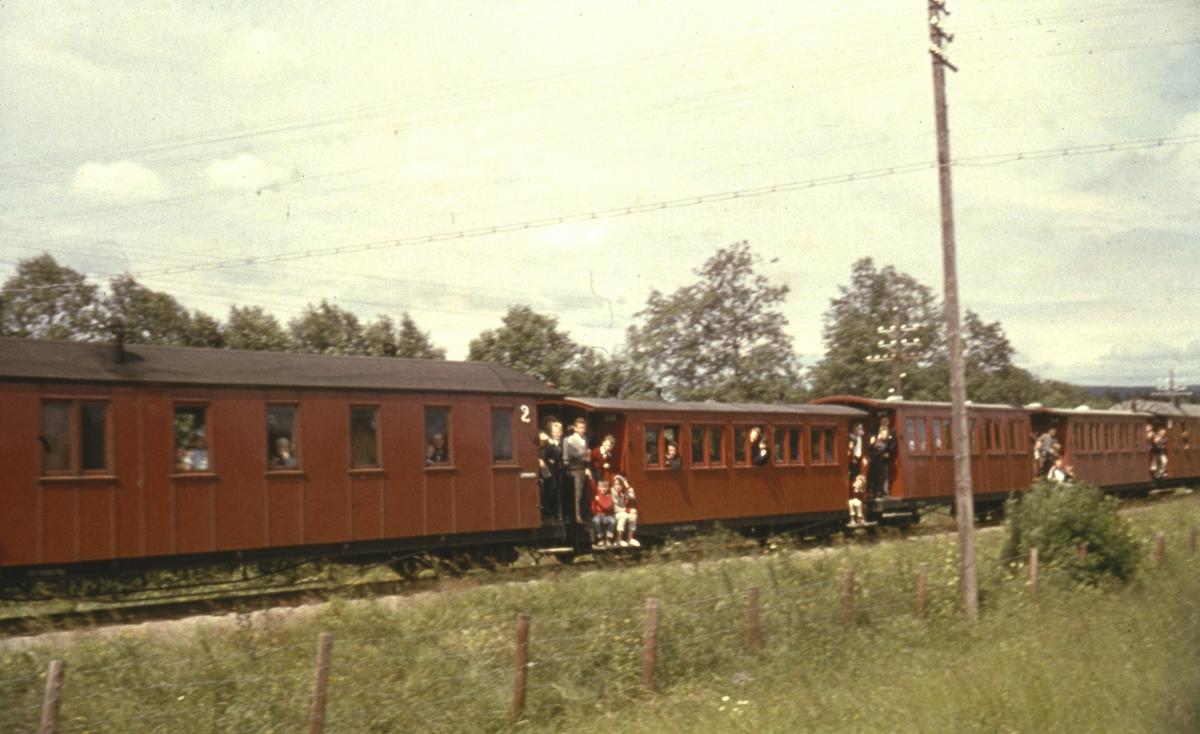 Et av de siste ordinære togene fra Skulerud til Sørumsand.