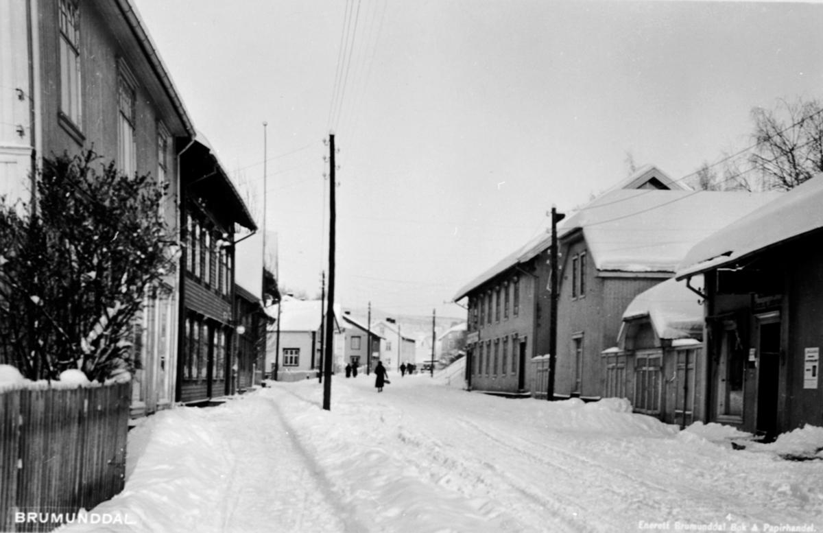 Gamlegata, Brumunddal, Vinter.
