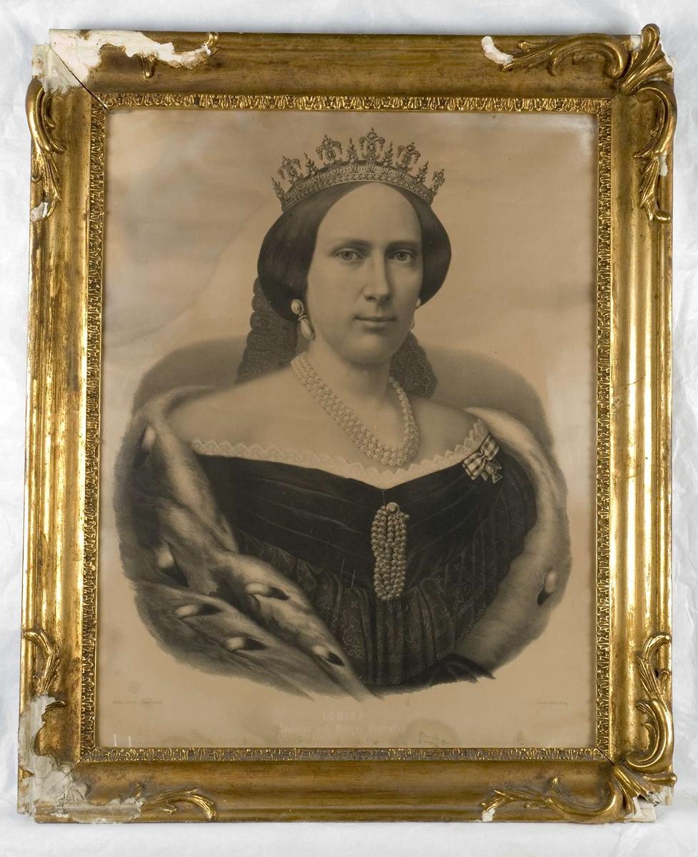 Porträtt av drottning Lovisa (1828 - 1871), gift med kung Karl XV.