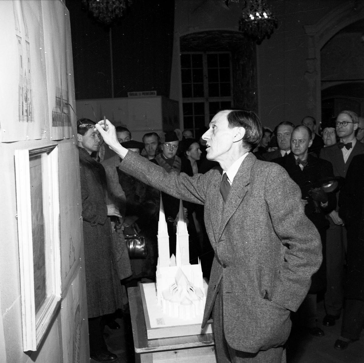 """""""Domkyrkan visas på Slottet"""", Uppsala 1947"""