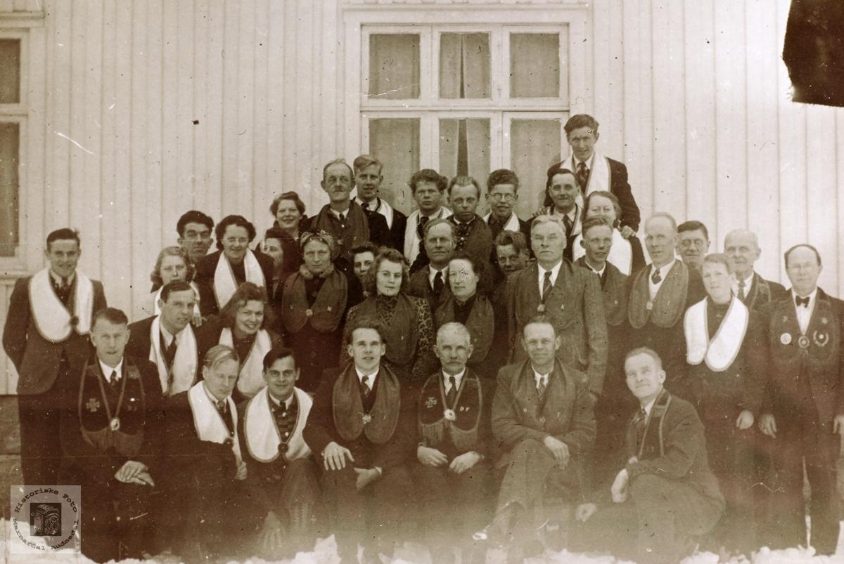 Ungdom med i Losjen i bygdene Sveindal/Håvorsted, Åmland og Kittelstad..