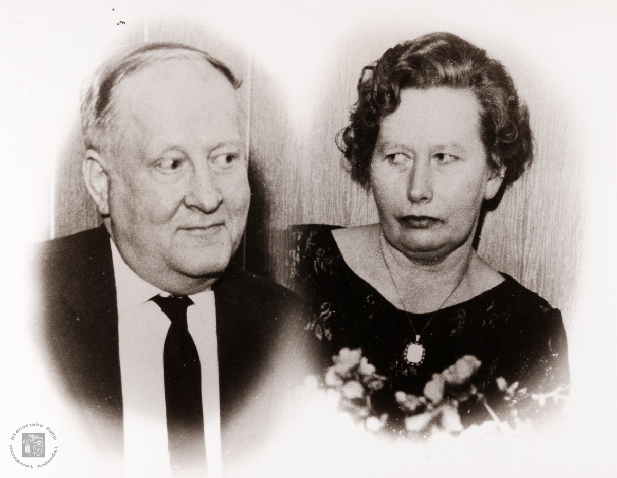 Portrett av ekteparet Simon og Oline Sofie Valand. Konsmo.