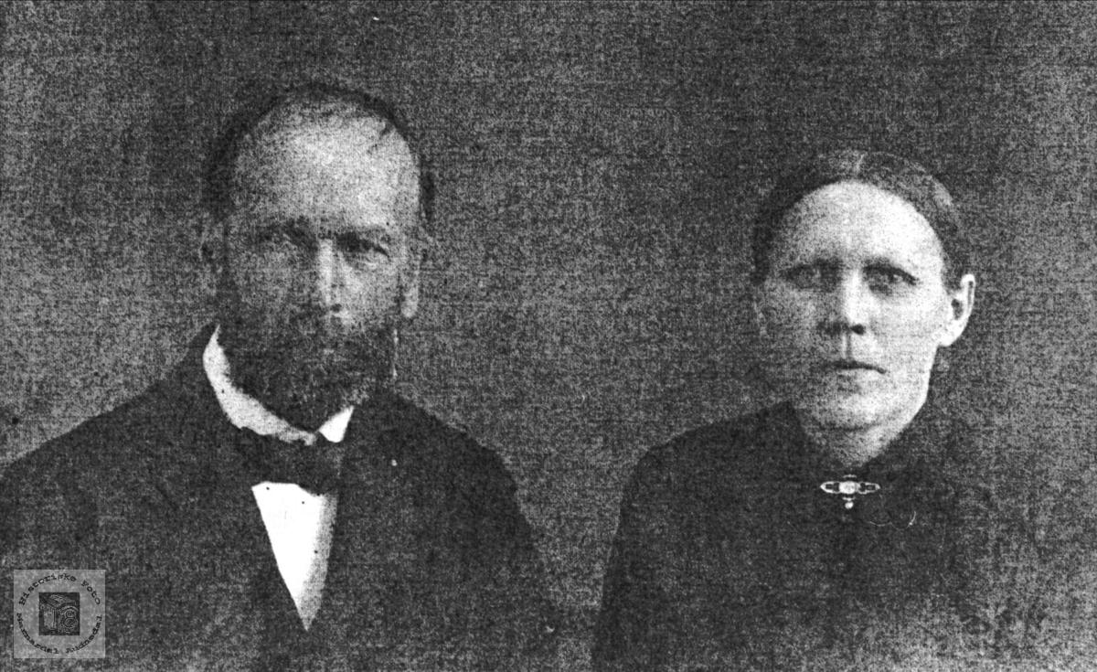 Ekteparet Reinert og Aasine Røkking, Øyslebø.