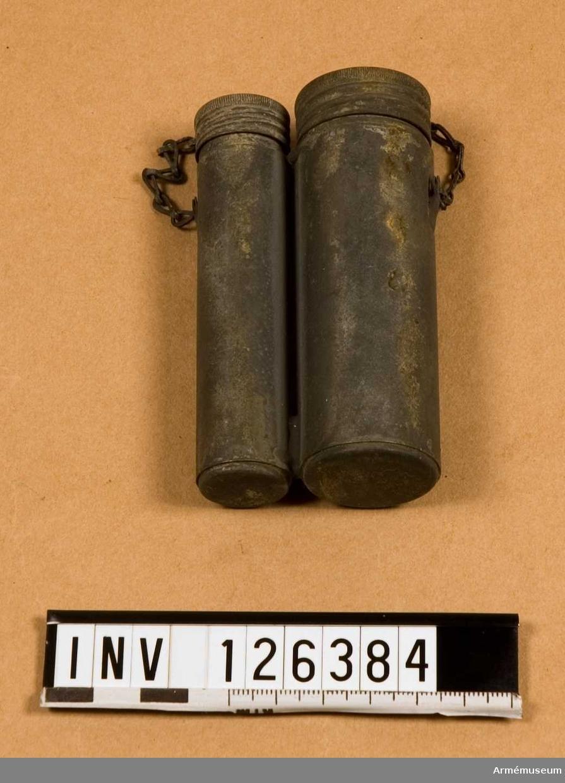 Oljedosa, dbl, av förtent plåt, t gevär m/1896.