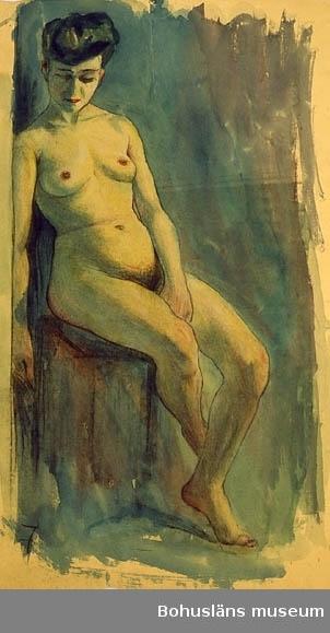 Montering/ram: Omonterad, Tillkomstort Collarossi, Paris. För uppgifter om konstnären Ragnar Ljungman, se RL001.