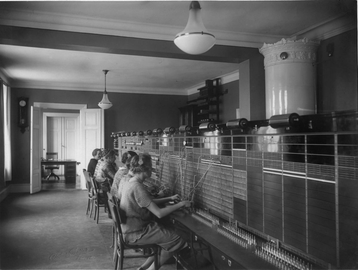 Nya lokala telefonstationen i Köping 1926.