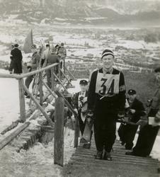 Birger Ruud under OL i Garmisch