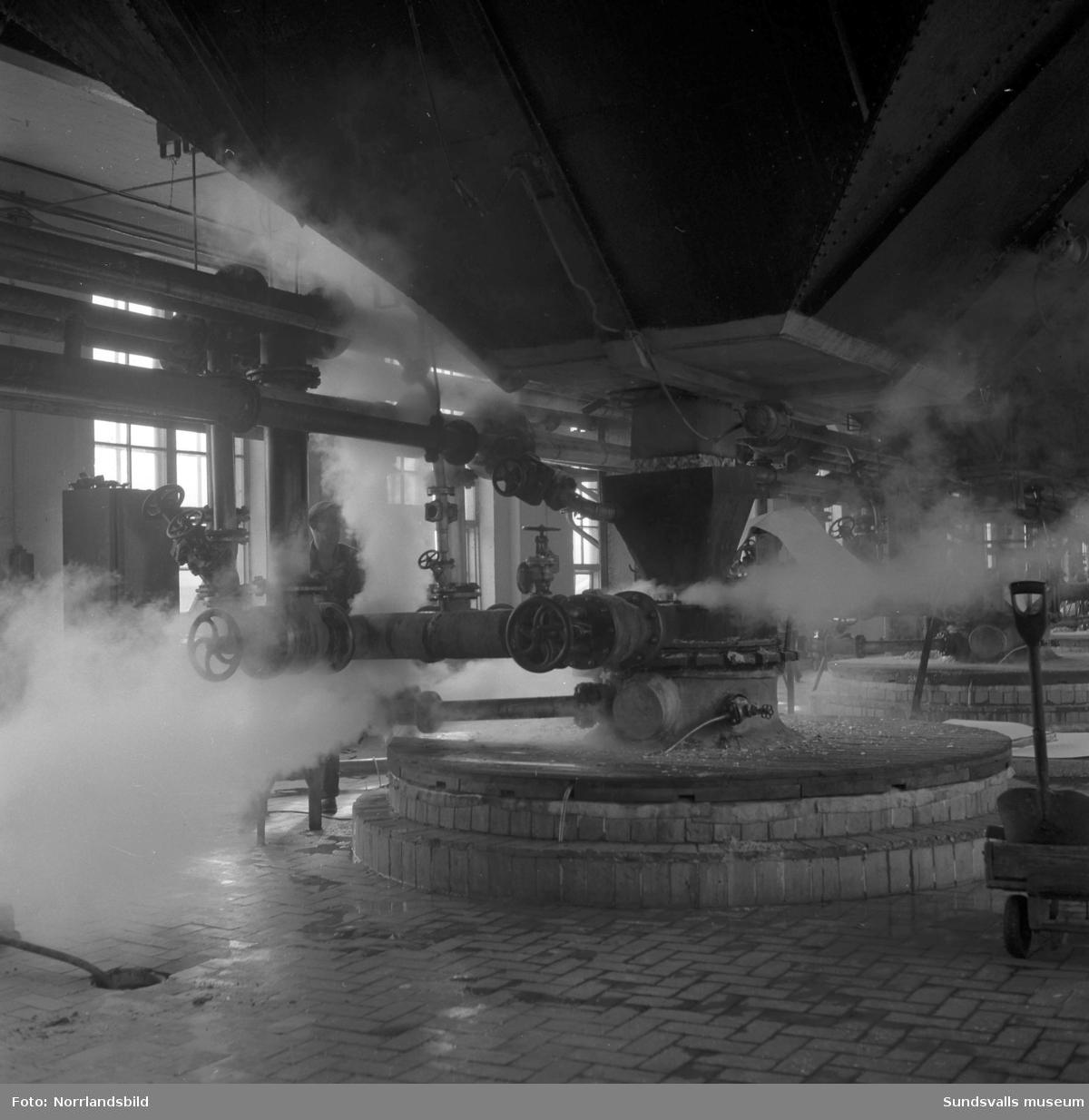 Interiörbilder från Svartviks sulfitfabrik.