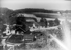 Lagesensgate, Hønefoss, ant. Bergensbanen under bygging i ba