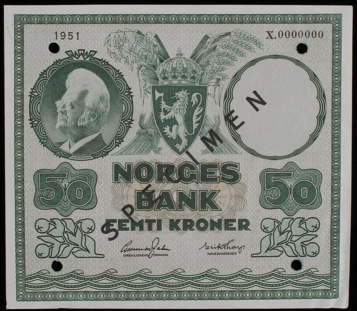 Kornskurd, arbeidere på kornåkeren, på en side, portrett av Bjørnstjerne Bjørnson på motsatt side.
