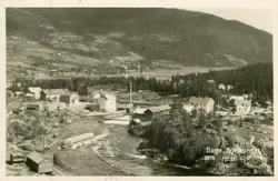 Postkort med motiv fra Bagnskleivene og ned mot sentrum av B
