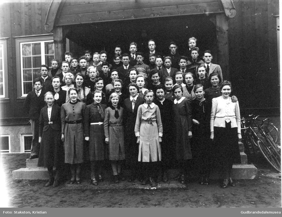 Lom og Skjåk framhaldsskule 1938-1939