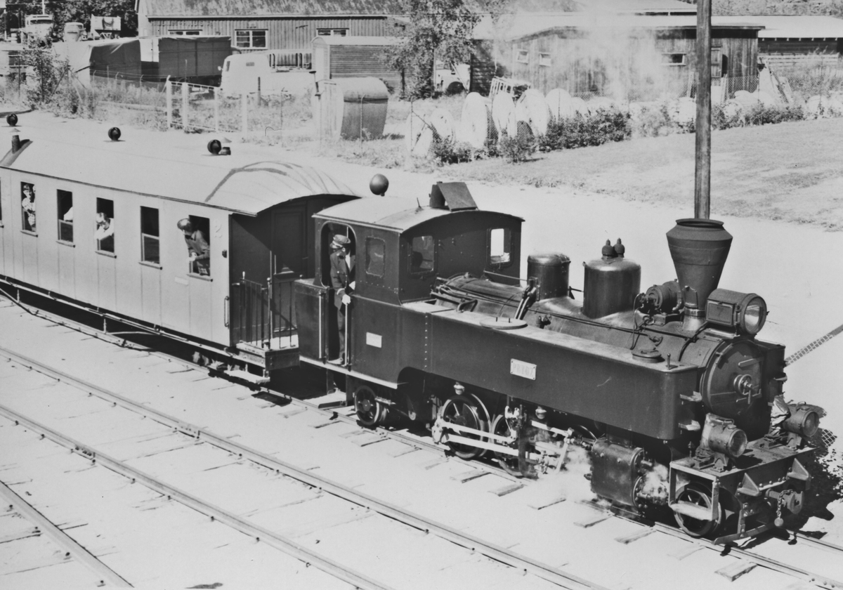 Tertitt-toget på Jernbanemuseet på Hamar.