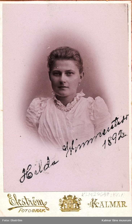 Porträtt av Hilda Wimmerstedt.
