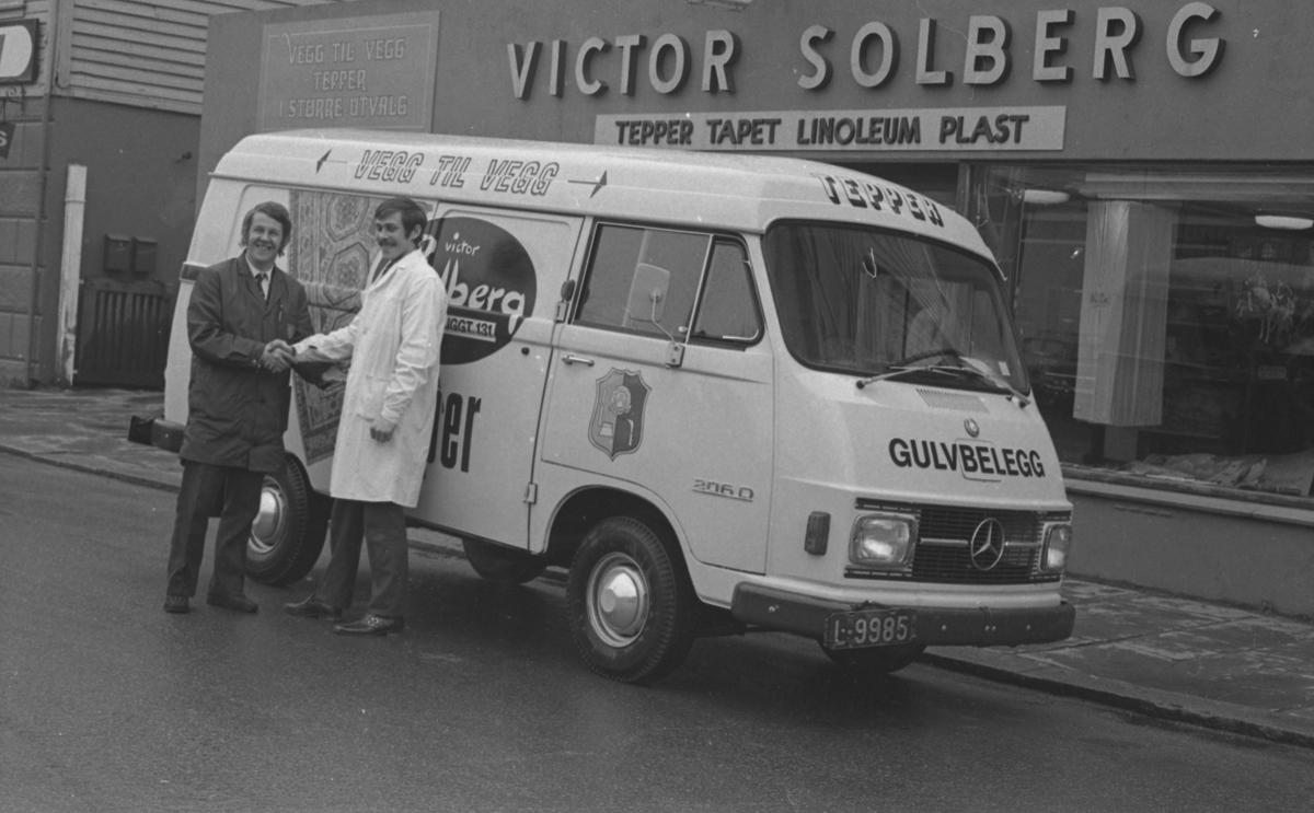 Ny bil til Victor Solberg.