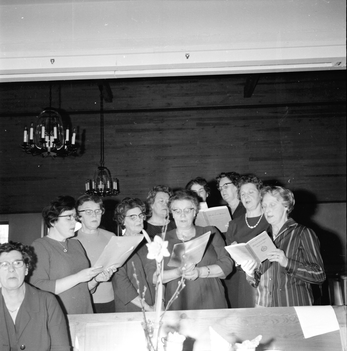 Vallviks kyrksal, Syföreningsmöte, 23 Februari 1965