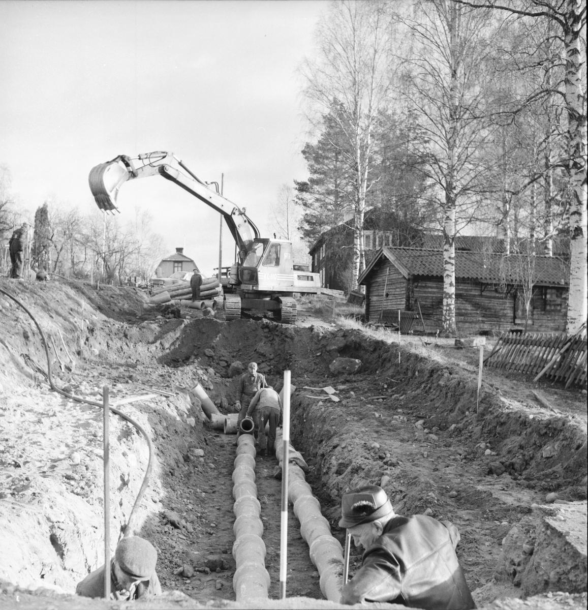 Arbrå, Nyhemsvägen breddas, Nov. 1969