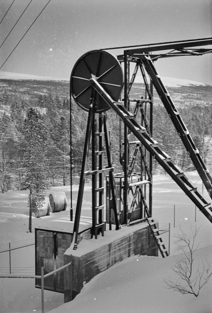 Taubanen til forsvarets radaranlegg på Hummelfjell ved Os i Østerdalen.