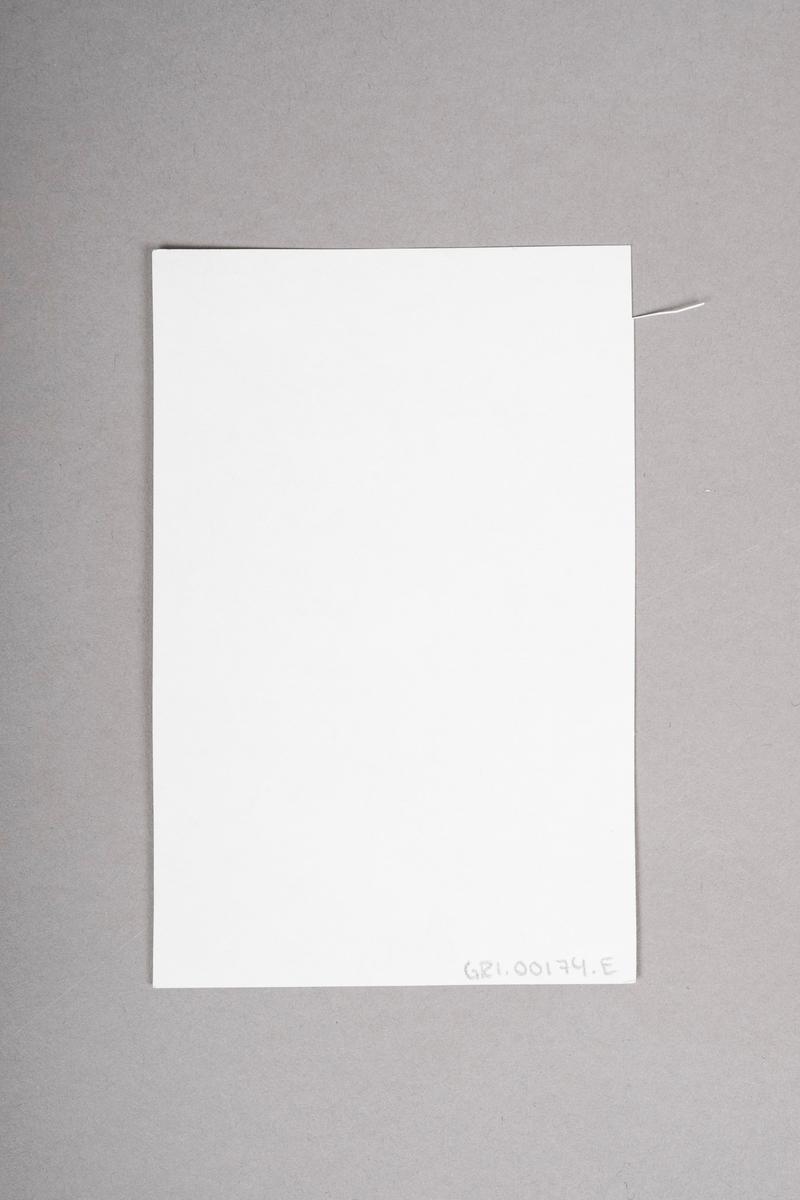 Kopi av portrett-tegning av Tulla Bruun (?). Portrettet (originalen) er tegnet med blyant eller penn, og er i svart-hvitt.